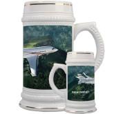 Full Color Decorative Ceramic Mug 22oz-Falcon 2000LXS Over Green Mountain