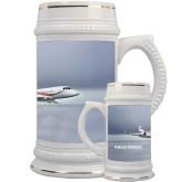 Full Color Decorative Ceramic Mug 22oz-Falcon 2000LX Silver Lining