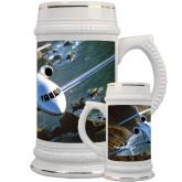Full Color Decorative Ceramic Mug 22oz-Falcon 900LX Coastal