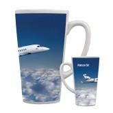 Full Color Latte Mug 17oz-Falcon 5X Over Clouds