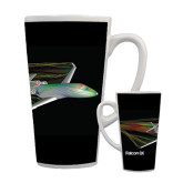 Full Color Latte Mug 17oz-Falcon 8X Color Computer Illustration