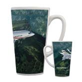Full Color Latte Mug 17oz-Falcon 2000LXS Over Green Mountain