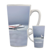 Full Color Latte Mug 17oz-Falcon 2000LX Silver Lining