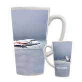Full Color Latte Mug 17oz-Falcon 2000LX Silver Lining