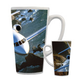 Full Color Latte Mug 17oz-Falcon 900LX Coastal