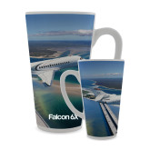 Full Color Latte Mug 17oz-Falcon 6X In Air