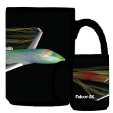 Full Color Black Mug 15oz-Falcon 8X Color Computer Illustration