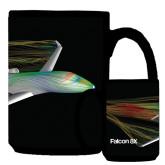 Full Color Black Mug 15oz-Falcon 8X Color Computer Illustration