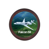 Round Coaster Frame w/Insert-Falcon 5X Over Green Landscape