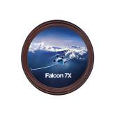 Round Coaster Frame w/Insert-Falcon 7X Over Mountains