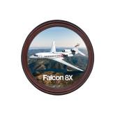 Round Coaster Frame w/Insert-Falcon 8X Over River