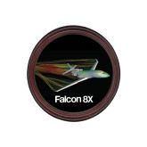 Round Coaster Frame w/Insert-Falcon 8X Color Computer Illustration