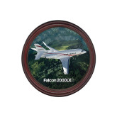 Round Coaster Frame w/Insert-Falcon 2000LXS Over Green Mountain