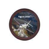 Round Coaster Frame w/Insert-Falcon 2000S Over Snowy Mountain