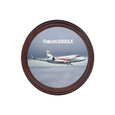 Round Coaster Frame w/Insert-Falcon 2000LX Silver Lining