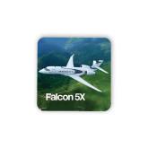 Hardboard Coaster w/Cork Backing-Falcon 5X Over Green Landscape