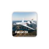 Hardboard Coaster w/Cork Backing-Falcon 8X Over River