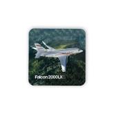 Hardboard Coaster w/Cork Backing-Falcon 2000LXS Over Green Mountain