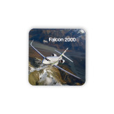 Hardboard Coaster w/Cork Backing-Falcon 2000S Over Snowy Mountain