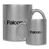 Full Color Silver Metallic Mug 11oz-Falcon