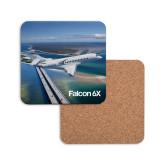 Hardboard Coaster w/Cork Backing 4/set-Falcon 6X In Air