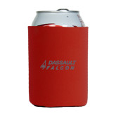Neoprene Red Can Holder-Dassault Falcon