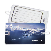 Luggage Tag-Falcon 7X Over Mountains