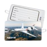 Luggage Tag-Falcon 8X Over River