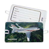 Luggage Tag-Falcon 2000LXS Over Green Mountain