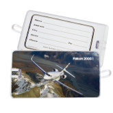 Luggage Tag-Falcon 2000S Over Snowy Mountain