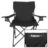 Deluxe Black Captains Chair-Falcon