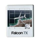 Scrambler Sliding Puzzle-Falcon 7X Over Beach
