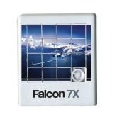 Scrambler Sliding Puzzle-Falcon 7X Over Mountains