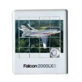 Scrambler Sliding Puzzle-Falcon 2000LXS Over Green Mountain