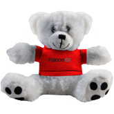Plush Big Paw 8 1/2 inch White Bear w/Red Shirt-Falcon 8X