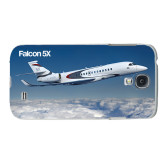 White Samsung Galaxy S4 Cover-Falcon 5X Over Clouds