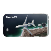 White Samsung Galaxy S4 Cover-Falcon 7X Over Beach
