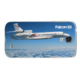White Samsung Galaxy S4 Cover-Falcon 8X Over Islands
