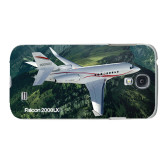 White Samsung Galaxy S4 Cover-Falcon 2000LXS Over Green Mountain