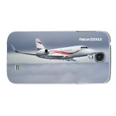 White Samsung Galaxy S4 Cover-Falcon 2000LX Silver Lining