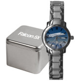 Mens Stainless Steel Fashion Watch-Falcon 5X Over Clouds