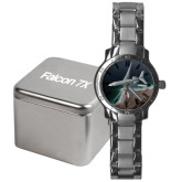 Mens Stainless Steel Fashion Watch-Falcon 7X Over Beach