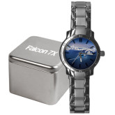 Mens Stainless Steel Fashion Watch-Falcon 7X Over Mountains