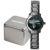Mens Stainless Steel Fashion Watch-Falcon 2000LXS Over Green Mountain