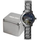 Mens Stainless Steel Fashion Watch-Falcon 2000S Over Snowy Mountain