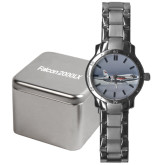 Mens Stainless Steel Fashion Watch-Falcon 2000LX Silver Lining