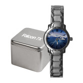 Ladies Stainless Steel Fashion Watch-Falcon 7X Over Mountains