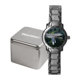 Ladies Stainless Steel Fashion Watch-Falcon 2000LXS Over Green Mountain