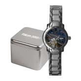 Ladies Stainless Steel Fashion Watch-Falcon 2000S Over Snowy Mountain