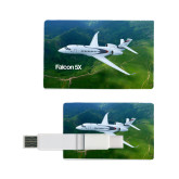 Card USB Drive 4GB-Falcon 5X Over Green Landscape
